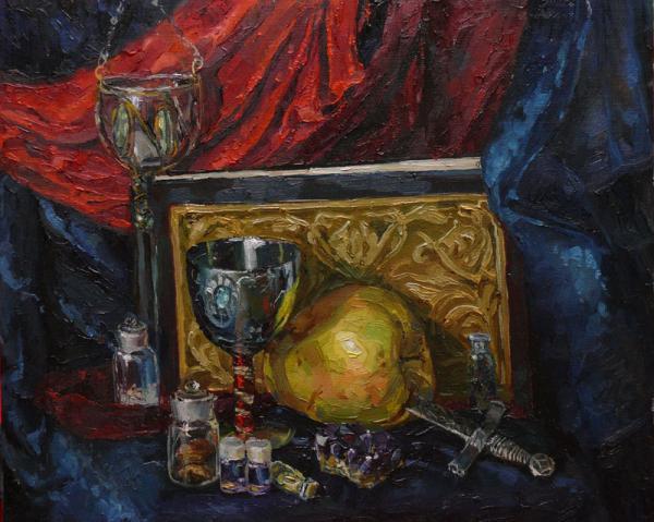 Ксения Баранова. Натюрморт. 2009 г. Холст на картоне, масло. 30х40