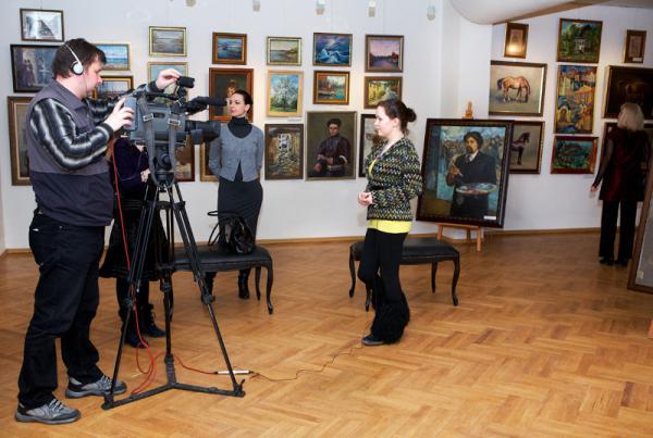 Ксения Баранова. Интервью телевидению