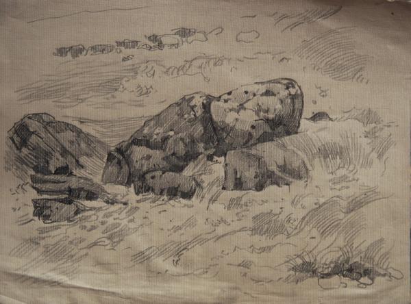 Ксения Баранова. Порог на Керети, 2011г, бумага, карандаш, 20х30