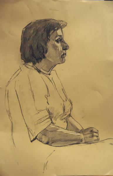Ксения Баранова. Портрет, 2011г, бумага, карандаш, 60х50