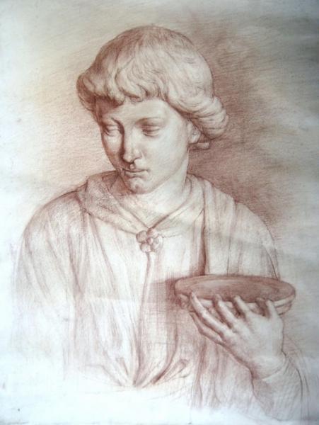 Ксения Баранова. Мальчик с чашей( гипсовый класс Академии Художеств им.Репина)