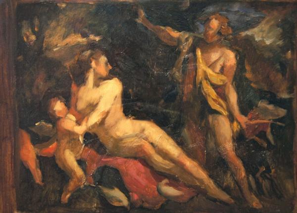 Ксения Баранова. эскиз- на цвет с ориг.итальянского мастера эпохи возрождения
