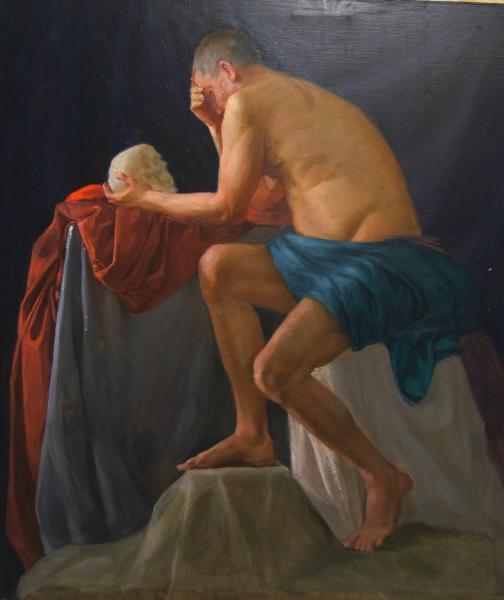 Ксения Баранова. Мужская обнаженная модель