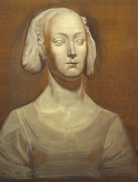 Ксения Баранова. Гризайль со скульпт.женской головы