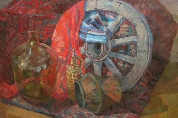Ксения Баранова. Натюрморт с колесом
