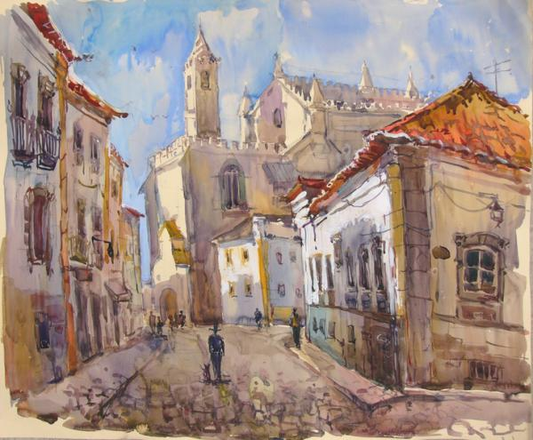Ксения Баранова. Португалия. 2010г. Бумага, акварель. 50х60